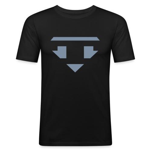 Twanneman logo Reverse - Mannen slim fit T-shirt