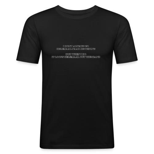 naar de tering - Mannen slim fit T-shirt