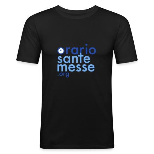 Orario Sante Messe T-shirt front - Maglietta aderente da uomo