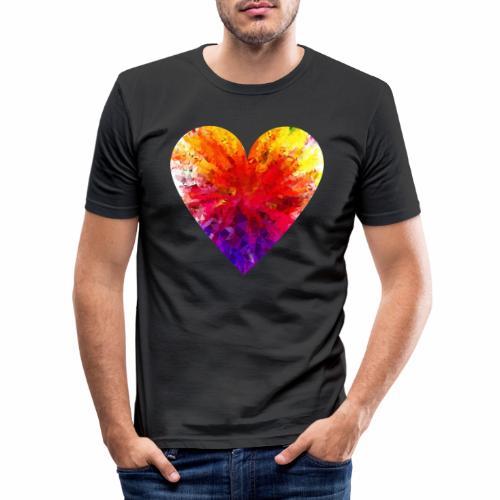 Herz Kristall - Männer Slim Fit T-Shirt
