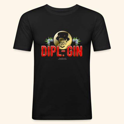 Gin T Shirt Design Dipl.-Gin - Männer Slim Fit T-Shirt