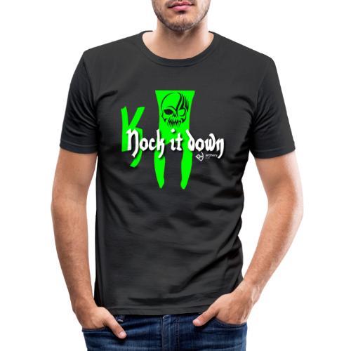 Nock it down - Männer Slim Fit T-Shirt