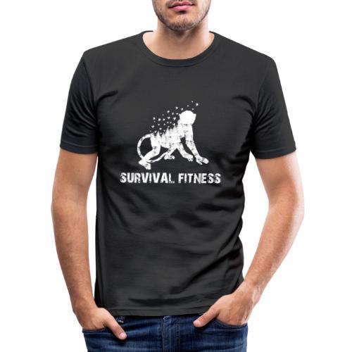 Survival Fitness Weiss - Männer Slim Fit T-Shirt