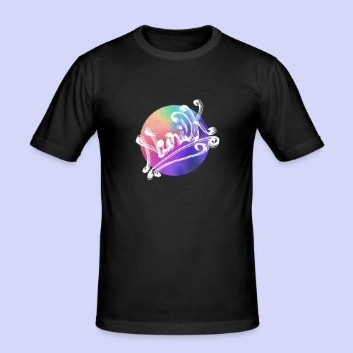 pastel rainbow, NuniDK Collection - Female top - Herre Slim Fit T-Shirt