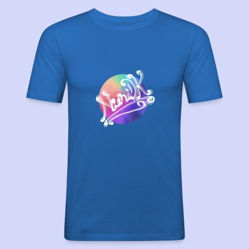 pastel rainbow, NuniDK Collection - Female top - Herre Slim Fit T-Shirt