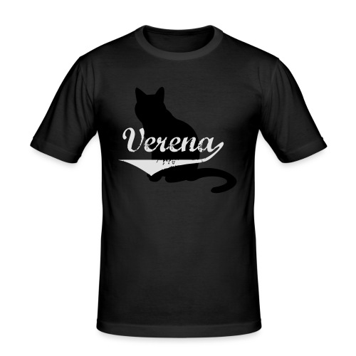 Verena Cat - Männer Slim Fit T-Shirt