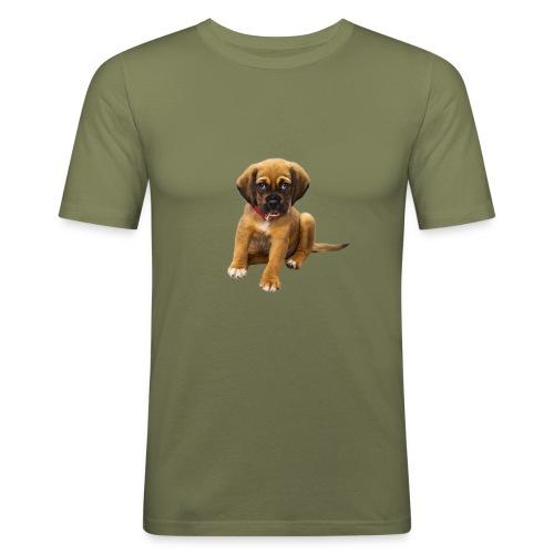 Süsses Haustier Welpe - Männer Slim Fit T-Shirt