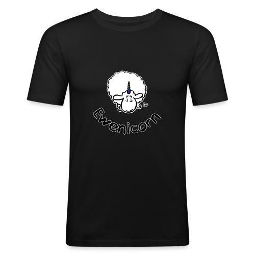 Ewenicorn (schwarze Ausgabe schwarzer Text) - Männer Slim Fit T-Shirt