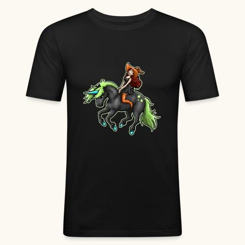 Monter une sorcière sexy sur une licorne. - T-shirt près du corps Homme