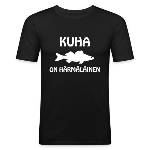 KUHA ON HÄRMÄLÄINEN - Miesten tyköistuva t-paita