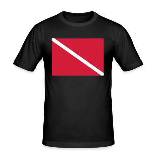 Diver Flag - Men's Slim Fit T-Shirt