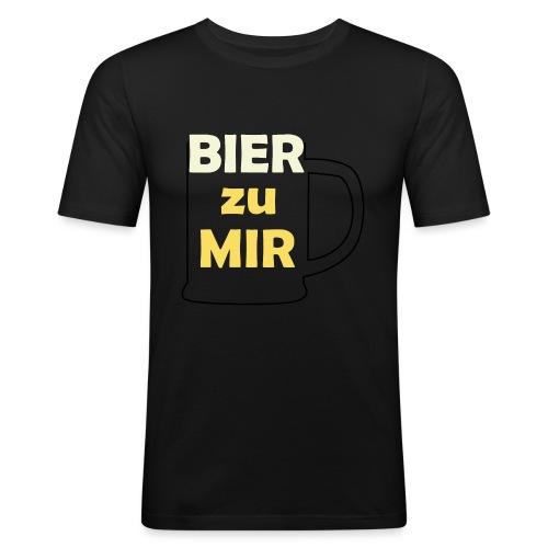 Bier zu mir - Männer Slim Fit T-Shirt