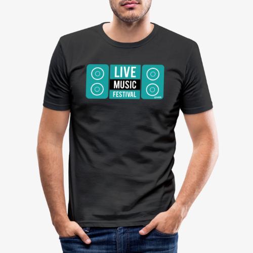 Amo la música - Camiseta ajustada hombre