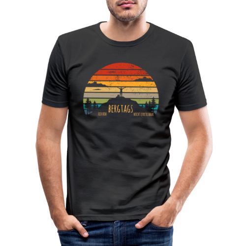 lustige Wanderer Sprüche Shirt Geschenk Retro - Männer Slim Fit T-Shirt