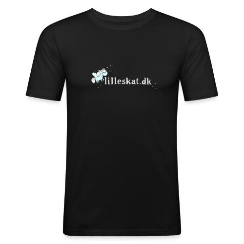 lilleskat_logo_-1- - Herre Slim Fit T-Shirt