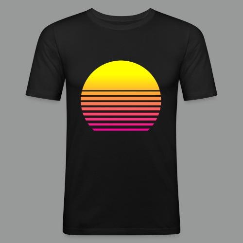 80s Sun - Männer Slim Fit T-Shirt
