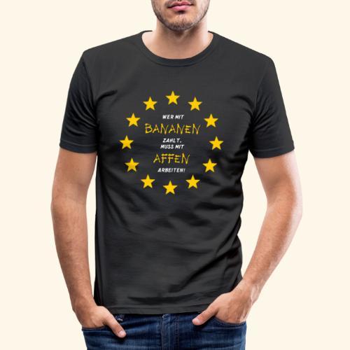Bananenrepublik Arbeiten Währung - Männer Slim Fit T-Shirt
