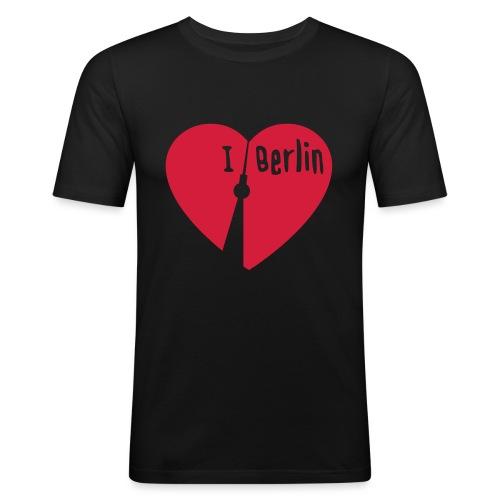I love Berlin (1-farbig) - Männer Slim Fit T-Shirt