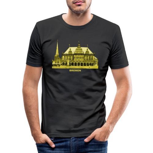 Bremen Rathaus Roland Hansestadt Deutschland - Männer Slim Fit T-Shirt