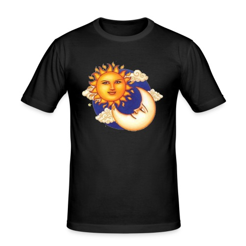 Sun and moon - Mannen slim fit T-shirt