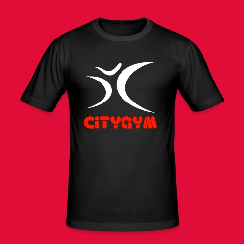CityGym Guys Pullover - Black - Men's Slim Fit T-Shirt