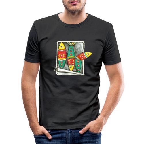 Les sardines du Portugal - T-shirt près du corps Homme