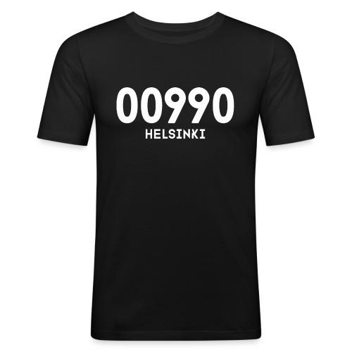 00990 HELSINKI - Miesten tyköistuva t-paita
