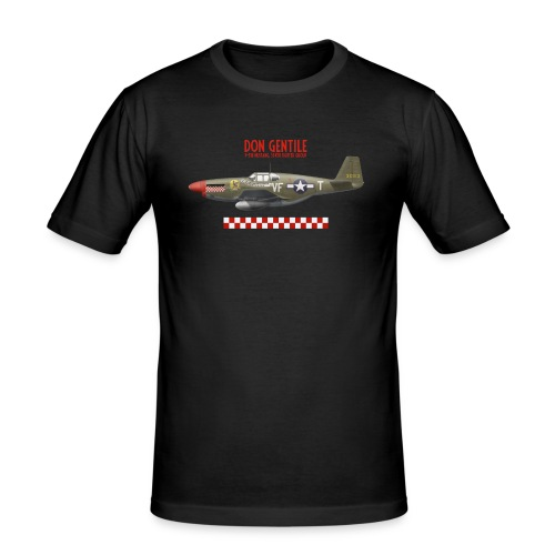 P-51 Mustang Shangri-La - Men's Slim Fit T-Shirt