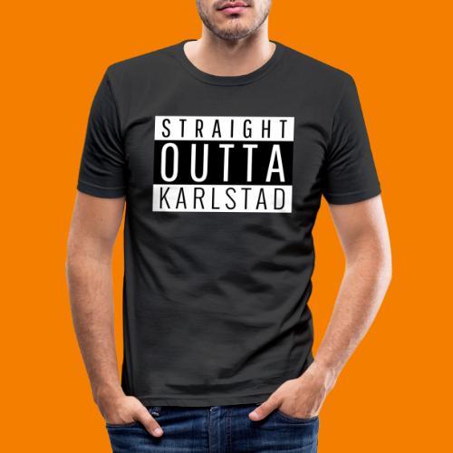 Straight outta Karlstad - Slim Fit T-shirt herr