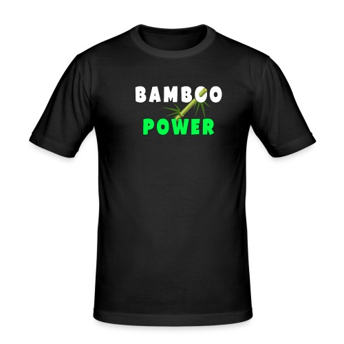 Bamboo Power T-shirt - Mannen slim fit T-shirt