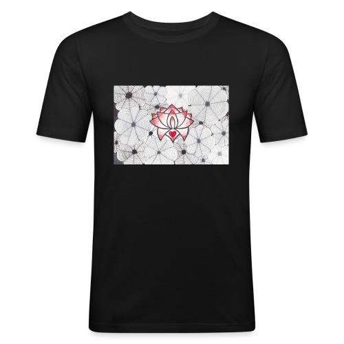 Lotus Heart - Maglietta aderente da uomo