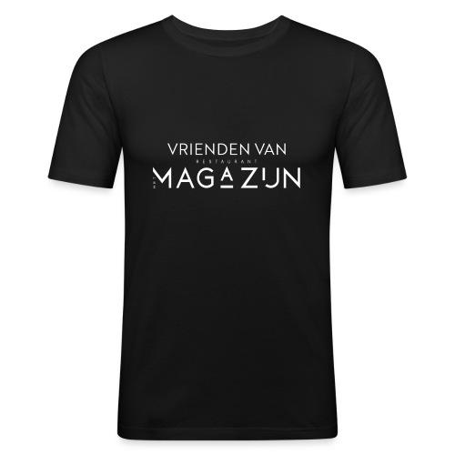 Vrienden van Restaurant het Magazijn - Mannen slim fit T-shirt
