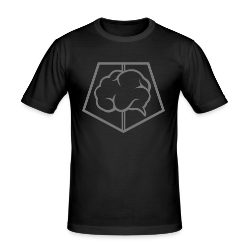brainless-logo-grey - Maglietta aderente da uomo