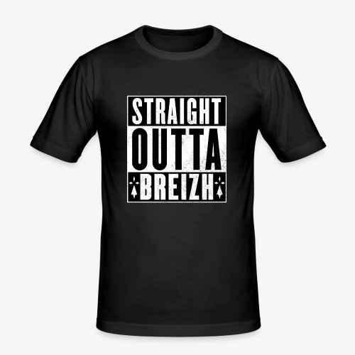 Straight Outta BZH - T-shirt près du corps Homme