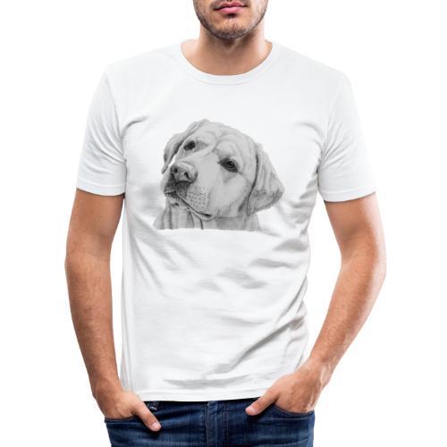 labrador retriever yellow - head - Herre Slim Fit T-Shirt