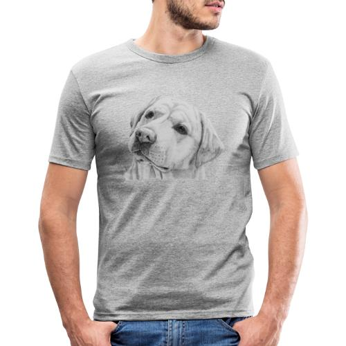 labrador retriever yellow - head - Herre Slim Fit T-Shirt