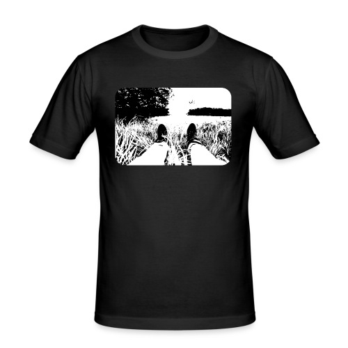 Green Grass in Black and White - Camiseta ajustada hombre
