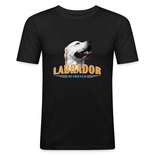 Labrador Tonko stolz - Männer Slim Fit T-Shirt