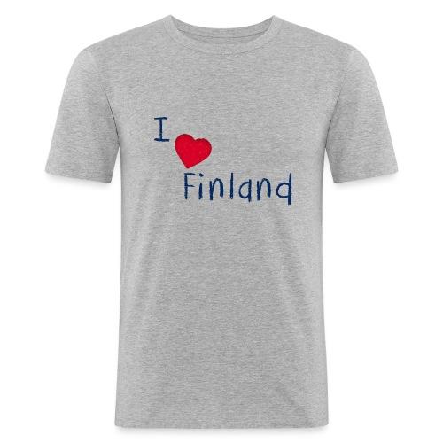 I Love Finland - Miesten tyköistuva t-paita