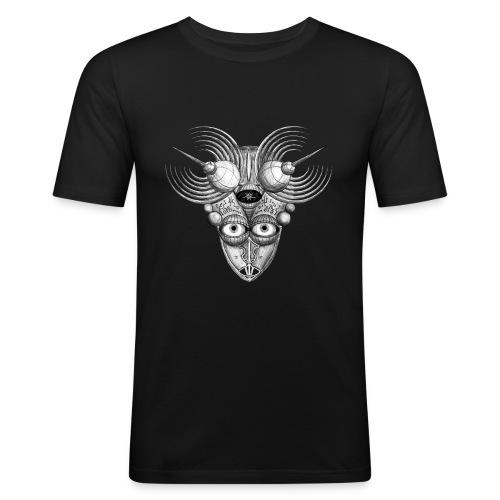 Androidenmaske 'Telepath' - Männer Slim Fit T-Shirt