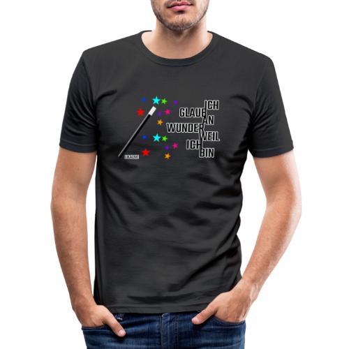 Ich glaub an Wunder weil ich bin! - Männer Slim Fit T-Shirt