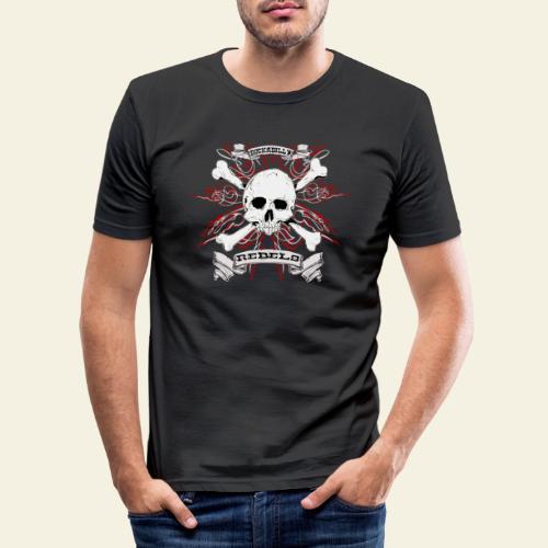 skull - Herre Slim Fit T-Shirt