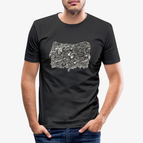 Grotesque No1 by Brian Benson - Men's Slim Fit T-Shirt