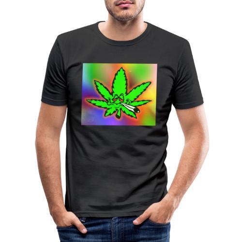 best weed - Miesten tyköistuva t-paita