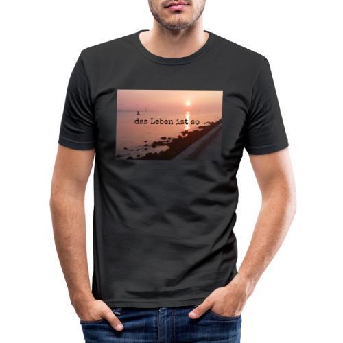 Sunset dLis - Männer Slim Fit T-Shirt