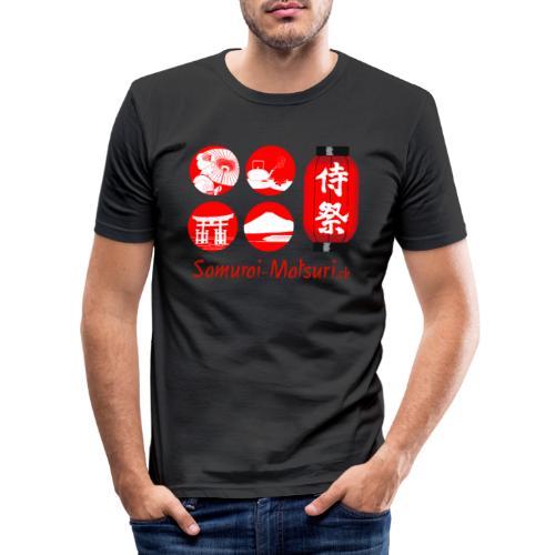 Samurai Matsuri Festival - Männer Slim Fit T-Shirt