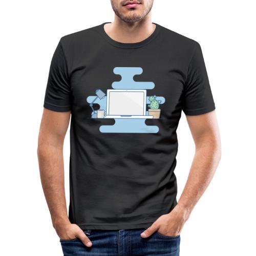 Arbeitstisch - Männer Slim Fit T-Shirt