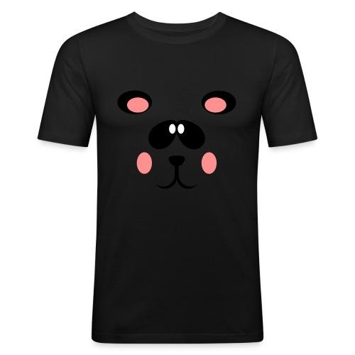 Blozende pandabeer - Mannen slim fit T-shirt