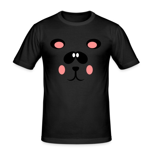 Blozende pandabeer - slim fit T-shirt