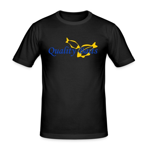 Quality Baits Logo - Men's Slim Fit T-Shirt